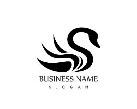 Bird Swan Logo Vector design Icon  Template