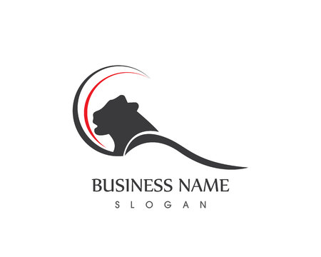 Panther Head Logo Design Vector Icon Template