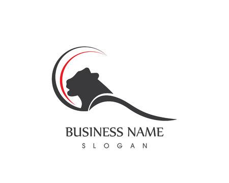 Panther Head Logo Ontwerp Vector Icon Sjabloon