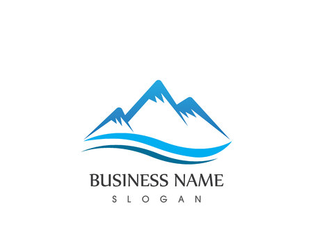 drop water: Mountain Logo Business Template Vector