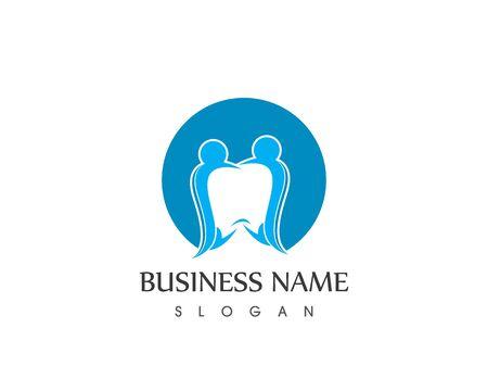 Health Dental People Care Logo Design Template