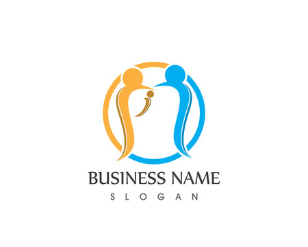 Healthy Family Care Adoption Logo Design Template