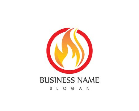 Fire Flame Logo Design Template Illustration