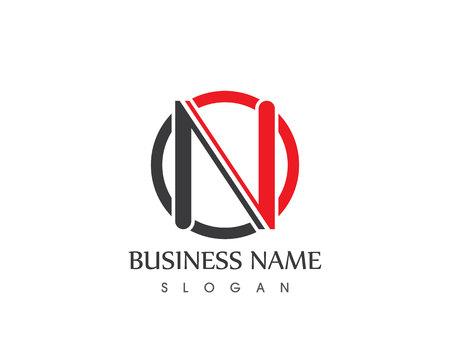 N Letter Logo Design Template