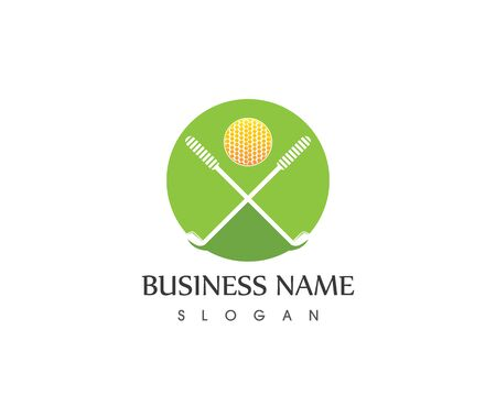 People golf icon  logo design vector template Illustration