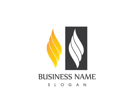Fire flame logo vector template