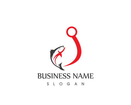 Fisherman logo vector template Illustration