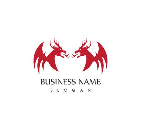 Dragon logo vector template Illustration