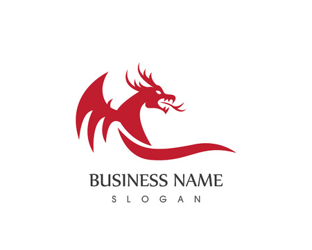 Modello di vettore del logo del drago