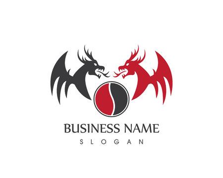 Modello di vettore del logo del drago Logo