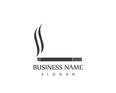 Smoking icon logo template