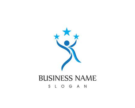Human character logo template Vectores