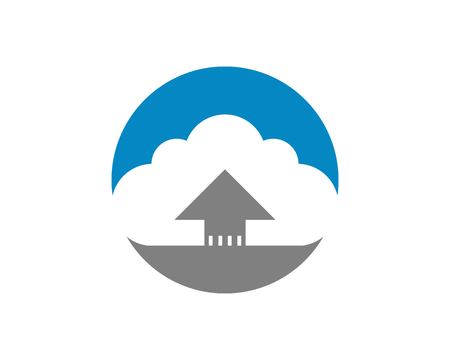 Plantilla de diseño de logotipo de icono de carga de flecha