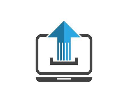 Arrow Upload Icon Logo Design Template