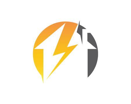 Lightning House Logo design Template