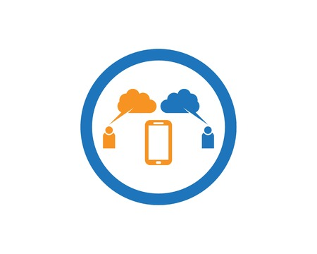 People chat cloud icon logo design  template