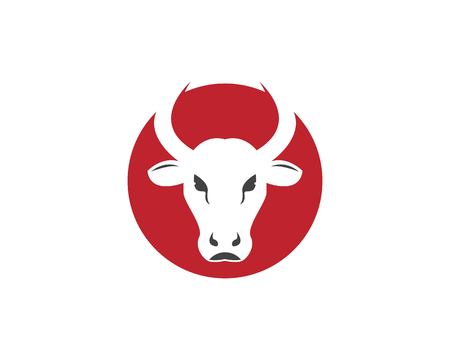 Red bull head logo design template