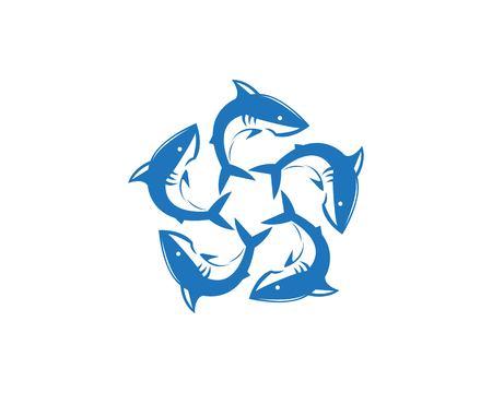 Shark Logo Template  イラスト・ベクター素材