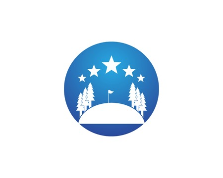 Golf Logo Template 矢量图像