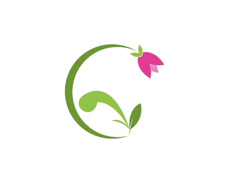 Nature flower logo design template Vettoriali