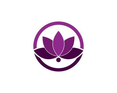 Flower logo design template Logos