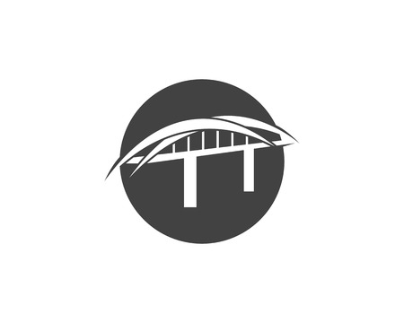 Bridge logo design template