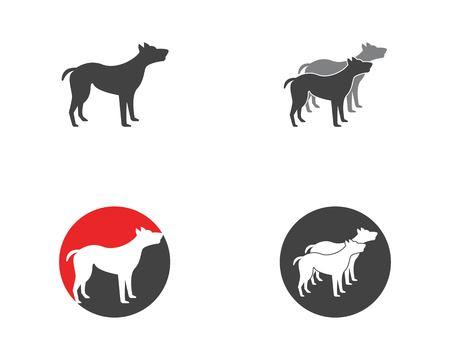 Dog icon logo vector template