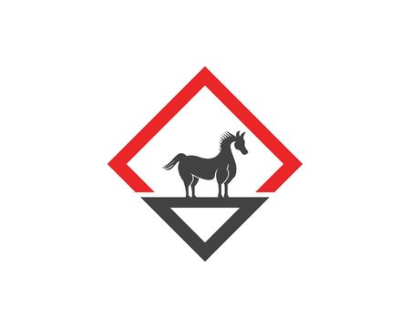 Horse icon logo vector template