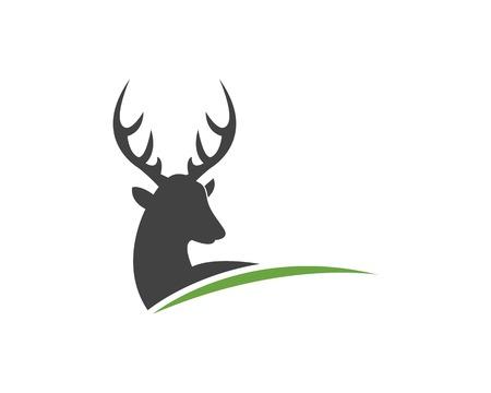 Plantilla de vector de logo de icono de cabeza de ciervo Logos