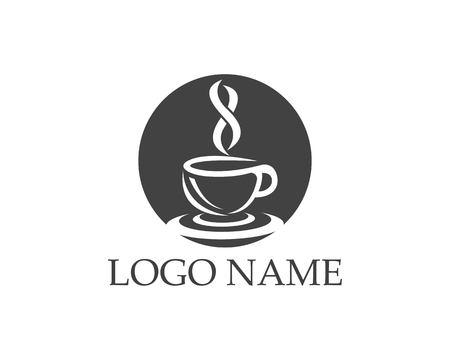 Coffee cup icon logo design vector