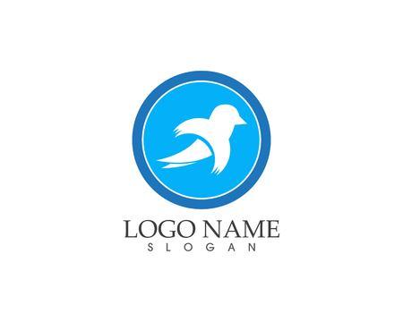 Bird wings icon logo vector template