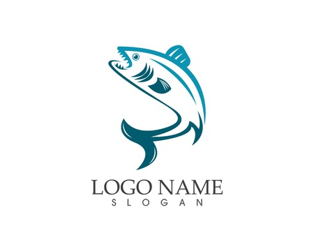 Fish icon logo vector template