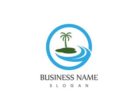 Concetto di design del logo di Wave Beach hollidays