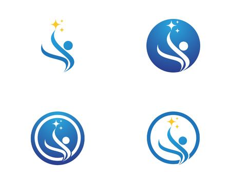 Health people care logo vector illustartion