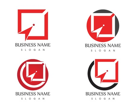Shooting arrow target icon logo  template