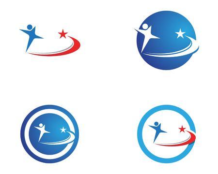 Running man health logo template
