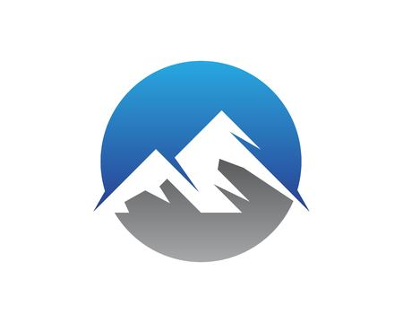 Nature mountain logo vector template  イラスト・ベクター素材