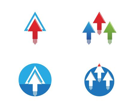 Business arrows logo template