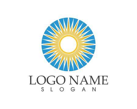 Sun icon symbol logo template