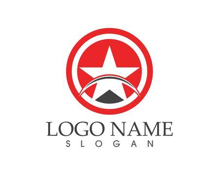 Stars icon logo vector template