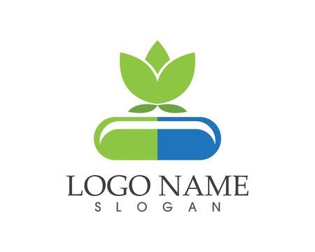 Drugs and phill logo design illustration Logo