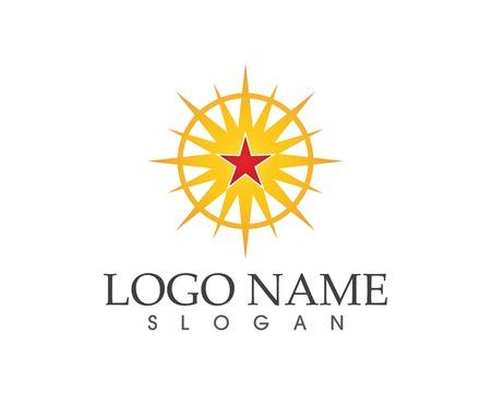Star icon logo vector template