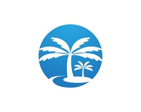 Coconute tree logo vector template Illusztráció