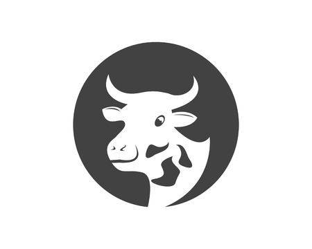 Cow head icon logo vector illustration Stock Vector - 110397270