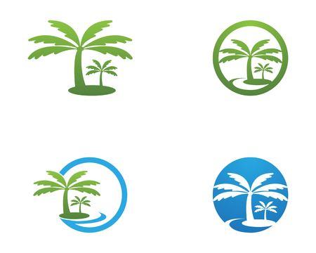 Coconut tree logo vector illustration Illusztráció