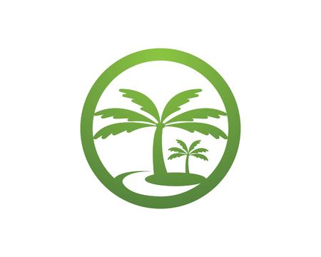 Illustrazione vettoriale del logo dell'albero di cocco Logo