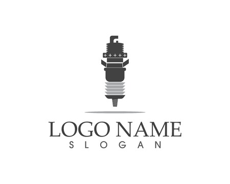 Spark plug icon logo design concept Illustration