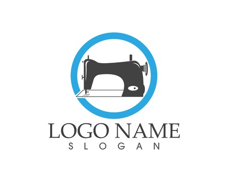 Sewing machine icon logo vector template