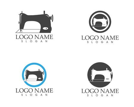 Sewing machine logo vector