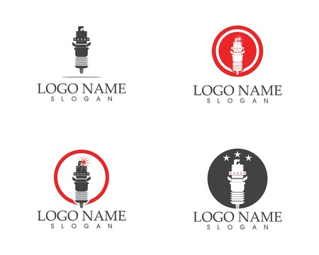 Spark plug icon logo vector illustration